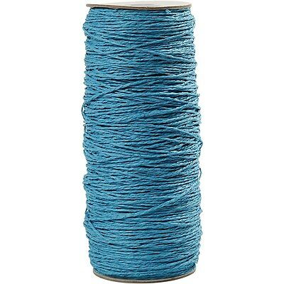 Paper Yarn, thickness 1,8 mm, L: 470 m, turquoise, 250g