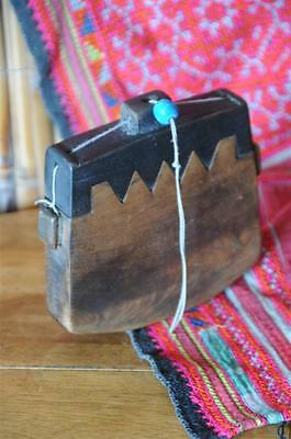 Old Japanese Carved Wooden Purse…   great collector's item...