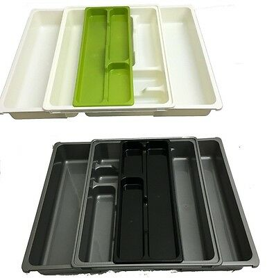 9 Compartment Adjustable Cutlery Holder Tray Drawer Organiser Plastic Brand New