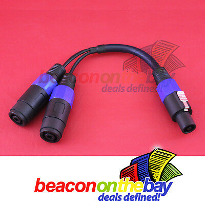 Australian Made Speakon Jack To 2 x Speakon Female Sockets Y Cable Audio Adapter