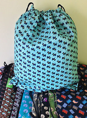LARGE WATERPROOF DRAWSTRING BAG Lots of Designs & Colours SUPER STURDY QUALITY