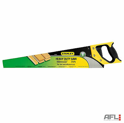Stanley 1-20-091 Sharpcut Heavy Duty Wood/Timber Cutting Hand Saw 7tpi 550mm/22""