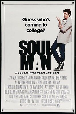 SOUL MAN 27X41 Original Movie Poster One Sheet ROLLED C. Thomas Howell 1986 Rare
