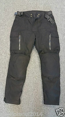 NEW Mens WAXED COTTON CE Tested ARMOURS Quilted Motorcycle Biker Style TROUSERS
