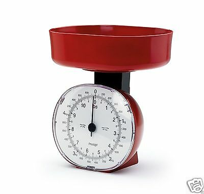 Prestige Vintage Retro Mechanical Kitchen Weighing Scales Red or Blue