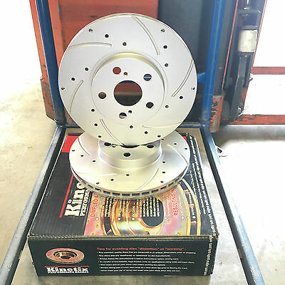 for Toyota Celica 99- 1.8 VVT-i ZZT230 Front Drilled Grooved Brake Discs 275mm