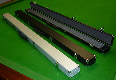 3/4 Hard Snooker Cue Case With Foam Lining And Chalk Compartment.  Choice Of 2