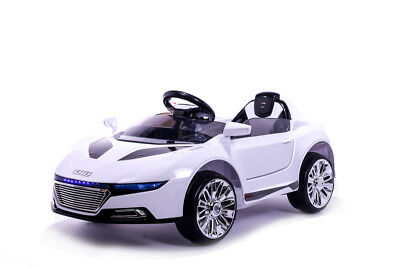 White R8 Roadster - 12V Kids' Electric Toy Ride On Car