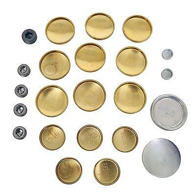 Small Block MOPAR DODGE BRASS FREEZE FROST PLUG KIT 273 318 340 360 408 SB