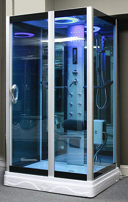 "Steam Shower Enclosure,48"" x 36"". Aromatherapy.Bluetooth.6 Year USA Warranty"