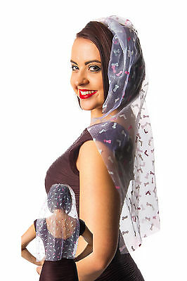 Willy Glitter COMB & VEIL Bride to Be Hen Night Party Accessory Gift