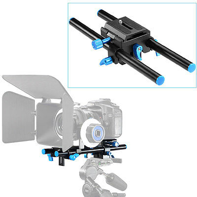 "Neewer Universal 15mm Rail Rod Support System DSLR Camera Mount 9.8"" Long USA"