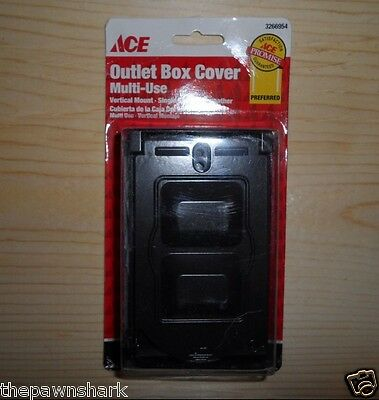 New Ace Bronze Multi-Use All-Weather Vertical Mount Outlet Box Cover 3266954