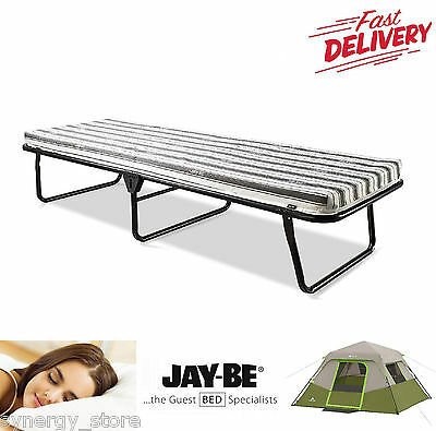 Single FOLDING SLEEPING BED Guest Bed With Mattress, Ideal Camping Portable Bed