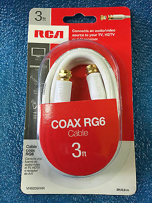 Brand New Sealed RCA COAX RG6 Cable 3ft