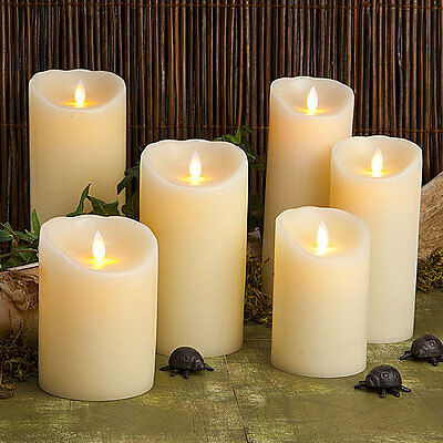 Flameless Candles Reallite Real Genuine Wax Flicker Flameless LED Candles