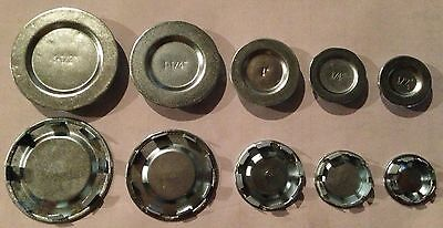 "(100 pc) NEW Steel Knockout KO Seal 1/2"" Box Hole Covers"