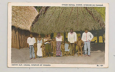 """Chame"" - Interior of Panama - Native Hut"