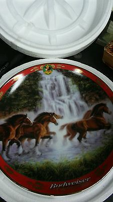 "Pride Of Budweiser ""Racing the Falls""  Collector Plate by Danbury Mint"