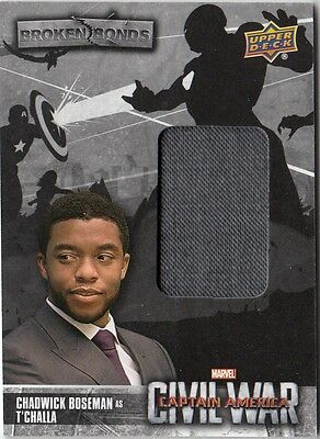 Captain America Civil War - Bb-Tc T'challa Broken Bonds Costume Card