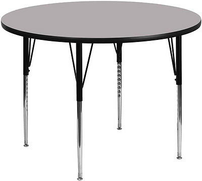 42'' Round Activity Table with Grey Thermal Fused Laminate Top & Standard Height