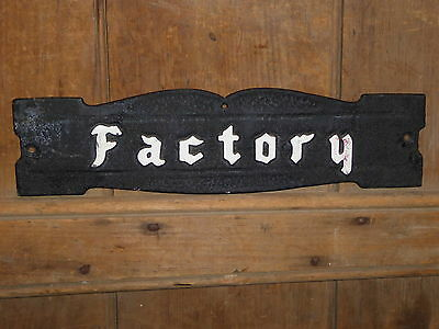 Rare 1940 Old Factory Cast Metal Industrial Trade Sign Vintage Antique Steampunk