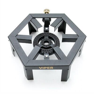 Large LPG Gas Burner Cooker Cast Iron Gas Boiling Ring Camping Brand