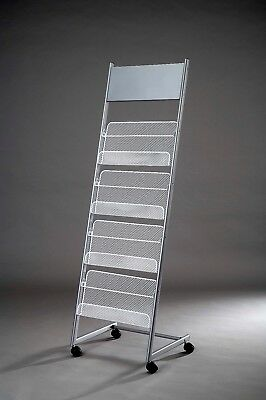 A4 Brochure Literature Display Stand Magazine Rack For Reception Showroom