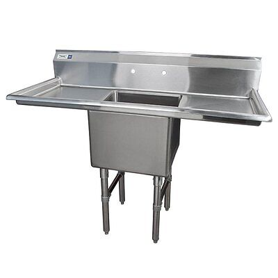 """54"""" 16-Gauge Stainless Steel One Compartment Commercial Sink 600S11818218"""