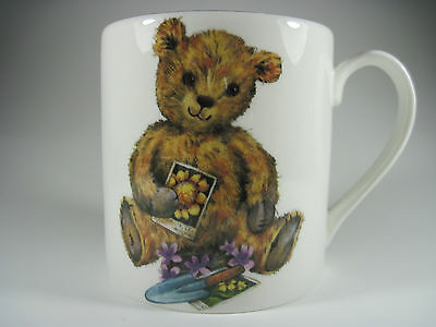 Staffordshire Teddy Bear Mug Blue Waters of England