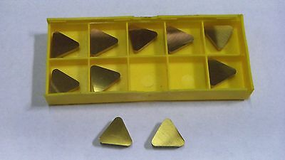 New 10Pcs Tpg-438 Tin Coated  Carbide Inserts