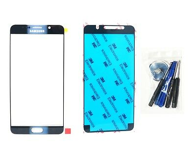 Black Sapphire Front glass lens replacement For Galaxy Note 5 N920 Tool Adhesive