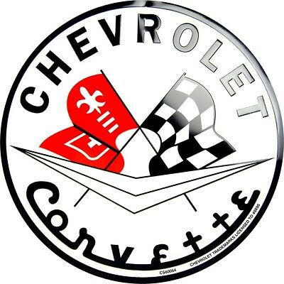chevrolet genuine bowtie logo 12 round metal sign garage embossed 1956 Chevy 210 Sedan chevrolet 1956 corvette racing flags 12 round metal sign garage embossed chevy