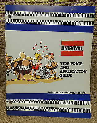 Uniroyal Tire Price and Application Guide 1981 Advertising 64 pages