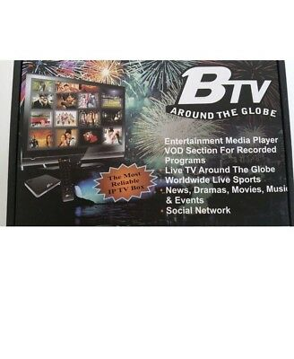 BTV Box ANDROID -1000-HD+ Live Indian, Hindi, Urdu, Afghan W/ PRIORITY SHIPPING