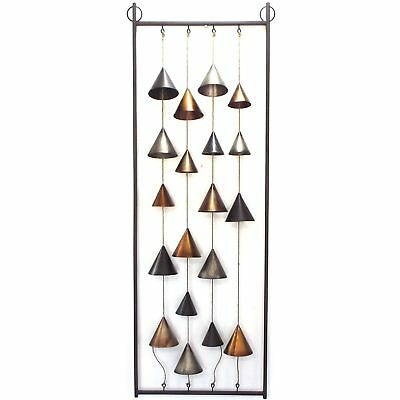 Metal Wall Art Modern Abstract Bell Cone Hanging Iron Sculpture 123cm BIG