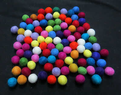 FB3 Hand Crafted Collectible 2cm 100pc multicolor wool Felt Ball gift Decorative