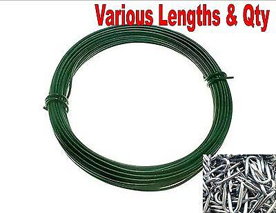 Heavy duty green PVC wire u nails fencing netting staples fence plant garden