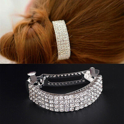 Crystal Silver Metal Alloy Hair Clamp Claw Clips Hairpins wholesale HOT