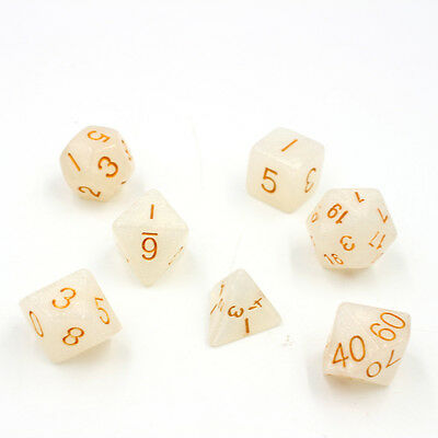 New Arrive 7pcs/Set TRPG Games Dungeons & Dragons D4-D20 Multi-sided Dices