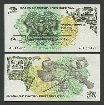 PAPUA NEW GUINEA - 2 kina  1975  P1  Uncirculated  ( Banknotes )