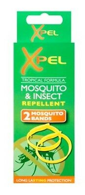 4xAnti Mosquito Insect Fly Repellent 100% Deet Holiday Camping Wrist Ankle Bands