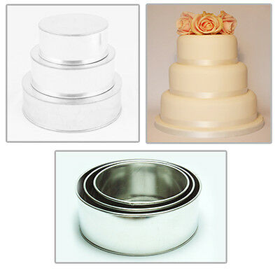 "3 Tier Heavy Duty Round Wedding Cake Tins  8"" 10"" 12"""