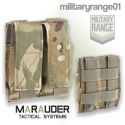 Marauder MTP 9mm Twin Pistol Mag Pouch - MOLLE - British Army Multicam - UK Made