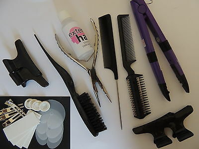 Pre Bonded Hot Fusion  Hair Extension kit and tools