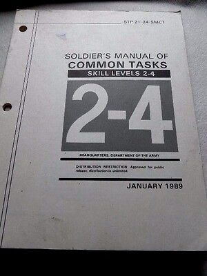 Army Soldier's Manual Of Common Tasks STP 21-24 SMCT January 1989 164 Pages