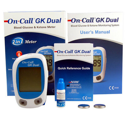 Blood Glucose and Ketone Test Monitor  ~ The On Call GK Glucose Ketone Meter