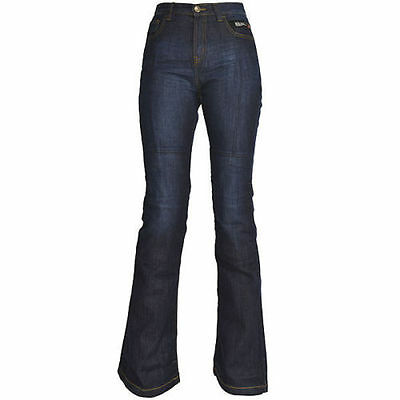 Ladies Oxford SP-J2 Aramid Protective Motorcycle Jean CE Armour Blue Short Leg T