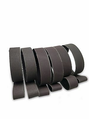 "2"" X 42"" KNIFE MAKERS FINE GRIT SANDING BELTS, 6 Pack ASSORTMENT"