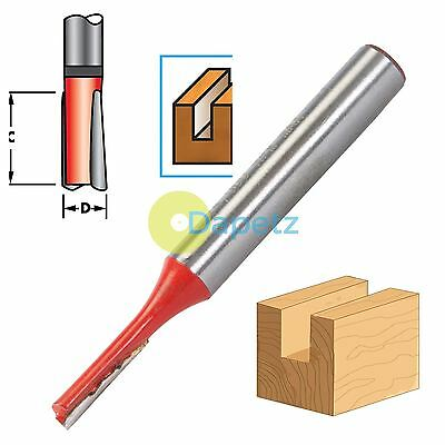 """1/4"""" Shank Straight Imperial Cutter TCT Router Bits 1/8"""" Diameter x 1/2"""" Long"""